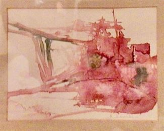 """Original Art signed by Artist (18"""" x 16"""") overall.  Image 6.5"""" x 8.5"""""""