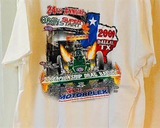 "NEW 2009 NHRA ""National Hot Rod Association"" 24th Annual Fall Nationals Dallas Texas T-Shirt(BACK)"