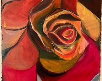 """""""The Rose"""". Original Art by Jane Paden (Unframed)     23""""x 30"""""""