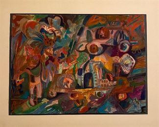 """Curiosity Shop""  Original Art by Jane Paden (unframed) Image 30"" x 22""'"