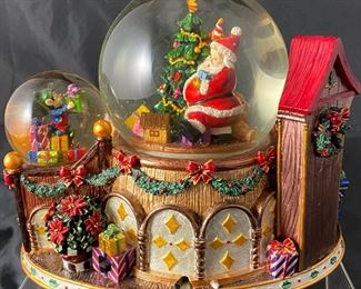 Christopher Radko Santas Workshop Music Box Snow Dome