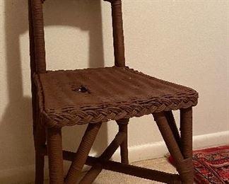 Antique Wicker Side Chair