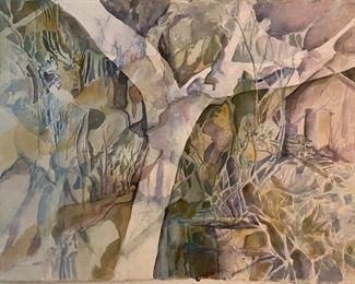 "Original Watercolor Art by Jane Paden (30""x 22"")"