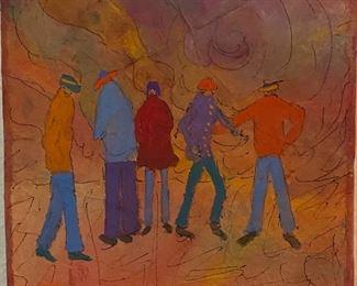 "Original Cassin Art by Jane Paden on Canvas (6"" x 6"" 1.5"") Block Art"