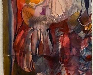 """Original Watercolor Art by Jane Paden (Unframed  - 11"""" x 22.5"""")"""