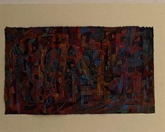 """A Child's Space Revisited"" Casein Original Art by Jane Paden (Image 12 1/4 x 21) Unframed"