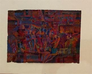 """Night Motion"" Cassin on Rice Paper Original Art by Jane Paden (image 9"" x 12.5"")"