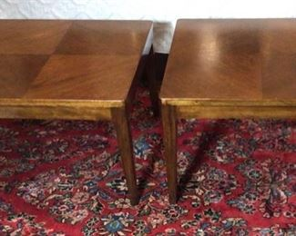 """Pair Mid-Century Danish Modern  Square Low Side Tables (22"""" x 22""""x 15""""H)"""