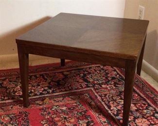 """(1 of 2 shown) Mid-Century Danish Modern  Square Low Side Tables (22"""" x 22""""x 15""""H)"""