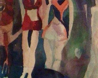 """Jane Paden Original Water Color 6"""" x 9"""""""