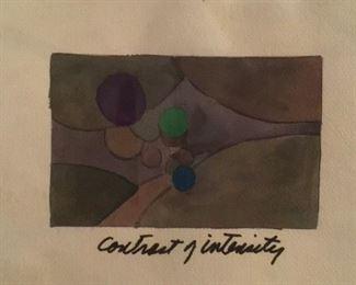 """Jane Paden Original  Art """"Contrast of Intensity"""" 11"""" x. 7.5"""". Image 6.4"""" x 4"""""""