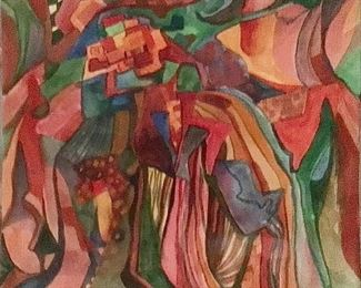 "Jane Paden Original Watercolor Abstract(9"" x 8"")"