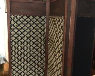 Antique 3 Panel Dressing Screen