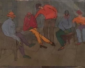 "Jane Paden Casein Original Art on Rice Paper (11"" x 7.5"")"