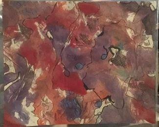 "Jane Paden Original Watercolor 10.5"" x 8.5"""