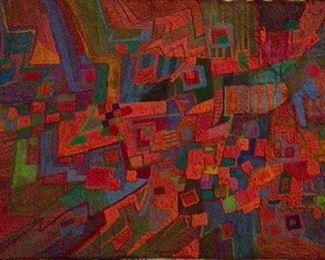 """Jane Paden Casein Original Artwork on Paper 10"""" x 7"""""""