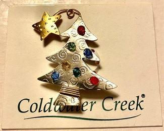Cod water Creek Vintage Christmas Tree Pin