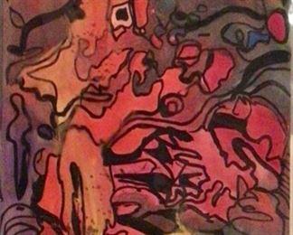 "Jane Paden Original Casein Art 6"" x 9"""