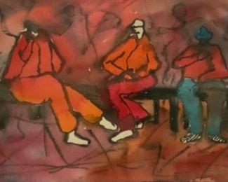 "Jane Paden Original Casein Art 15"" x 9.5"""