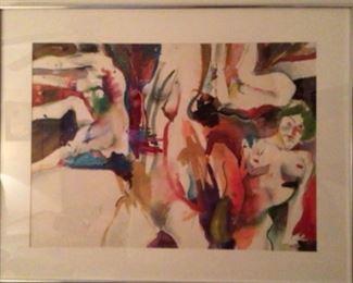 Miles G. Batts (1976-2010) Original Watercolor