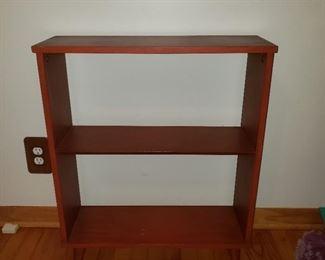 vintage distressed wood child size book shelf