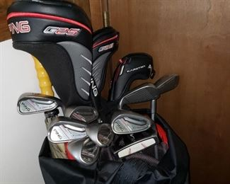 Complete set Ping golf clubs