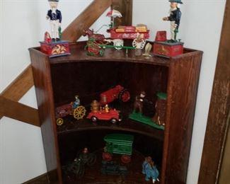 handcrafted corner shelf