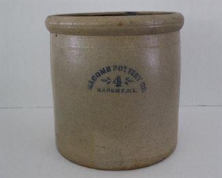 Macomb  pottery 4 gal. crock