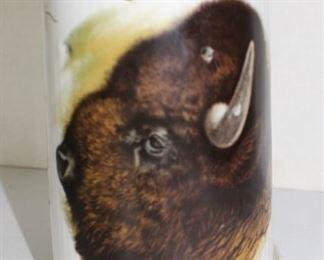Bison head German stein