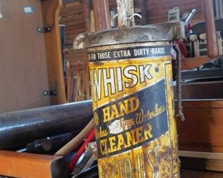 Vintage Whisk Hand Cleaner Can