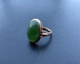 Lot #003---10ky Green Gemstone, weight: 5.4g, size: 5.75, price: $225