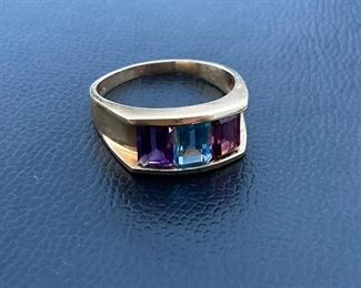 Lot #010---14ky Multicolored Ring, weight: 5.9g, size: 10.5, price: $295