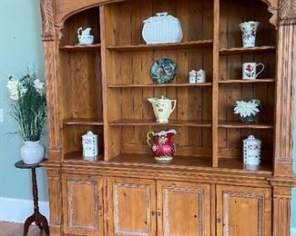 """Large hutch by Ethan Allen.  6'2"""" wide, 7'6"""" tall, 1'6"""" deep."""