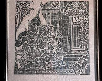 Angor Wat Temple Rubbings on Rice Paper