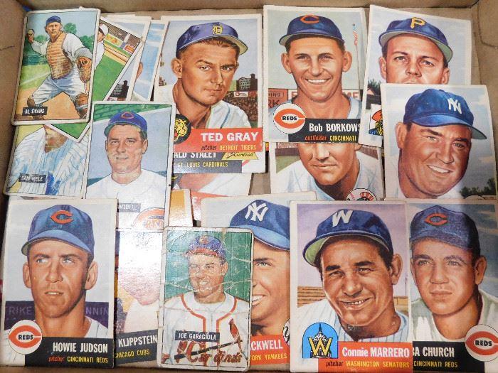 Vintage Topps baseball cards