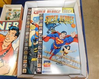 Comic book stamp albums