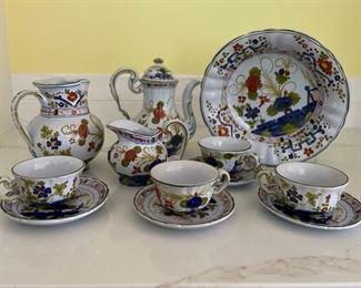 Cafe Faenza Blue Carnation Italian Pottery