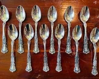 Antique Sterling Silver Gorham Buttercup Demi Tasse Spoons