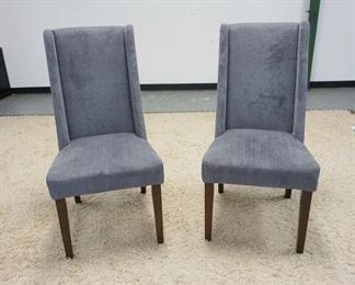 1007PAIR OF GRAY UPHOLSTERED SIDE CHAIRS