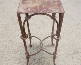 1012IRON PLANT STAND, 10 IN X 4 1/4 IN HIGH