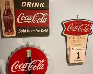 Coca Cola advertising decor
