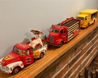 Coca Cola delivery trucks
