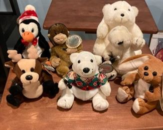 CocaCola beanie babies and other stuffies
