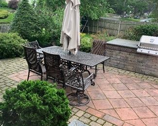 Bought at Sunline in Danvers. Style is called Florence. Patio dining set 6 chairs and umbrella
