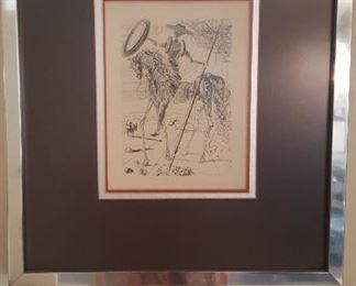 Don Quixote Series, Horseman by Artist Salvador Dali