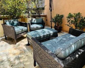 All weather wicker patio set
