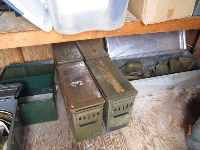 Military ammo cases