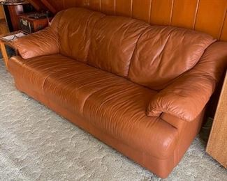 Vintage Faux Leather Couch