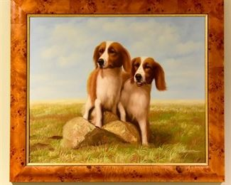 9 - framed painting #dogs