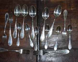 French Or Russian Silverplated Flatware